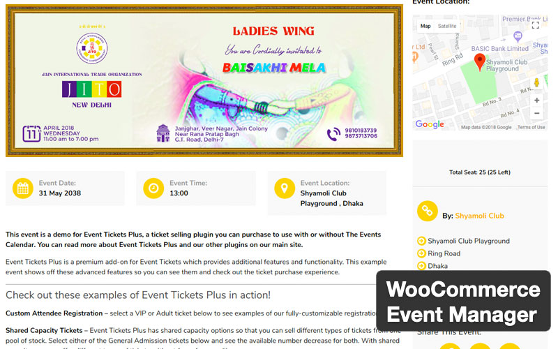Woocommerce Event Manager
