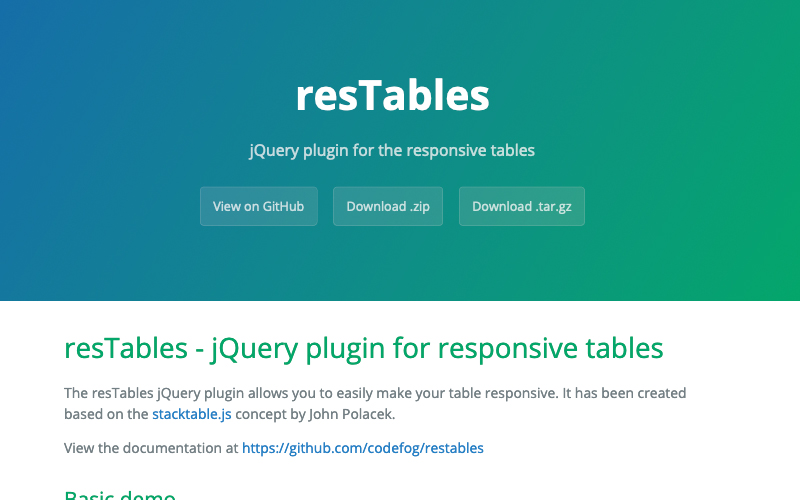12 Best jQuery Table Plugins • SomeWhat Creative