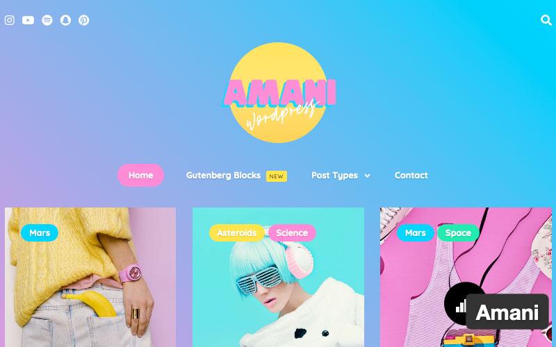 Amani Is A 1980s Powered WordPress Theme