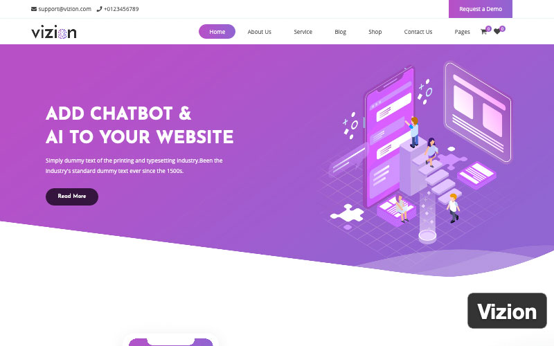 Vizion Theme For WordPress
