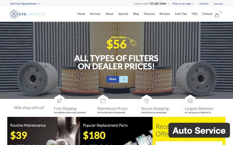 Auto Service WordPress