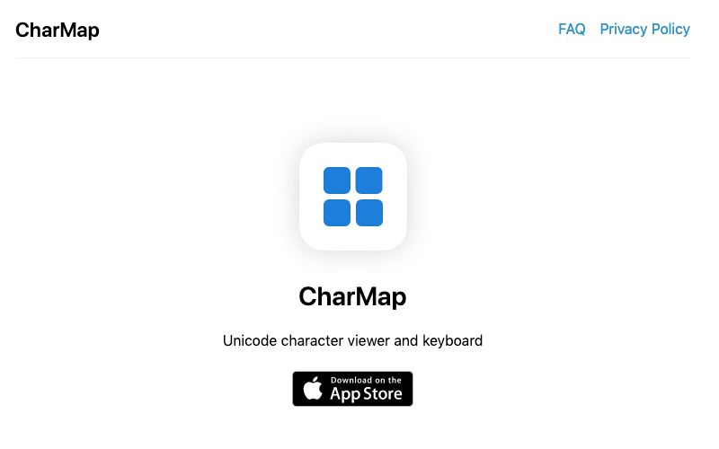 Charmap