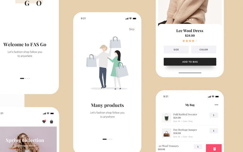 Fasgo Fashion App Ui Kit