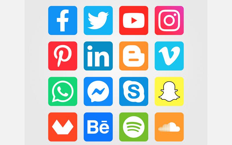 16 Social Media Icons