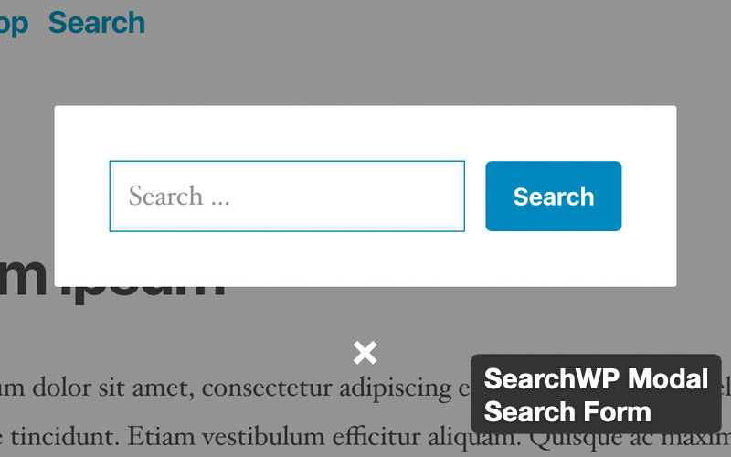 Searchwp Modal Search Form