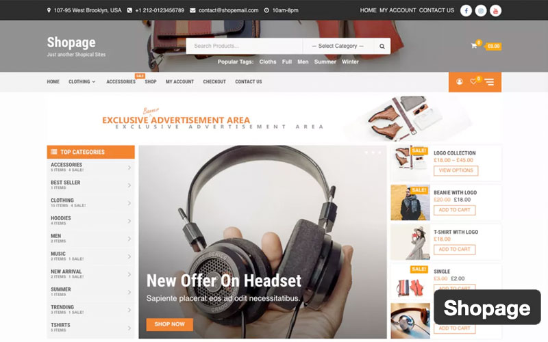 Shopage Woocommerce Theme