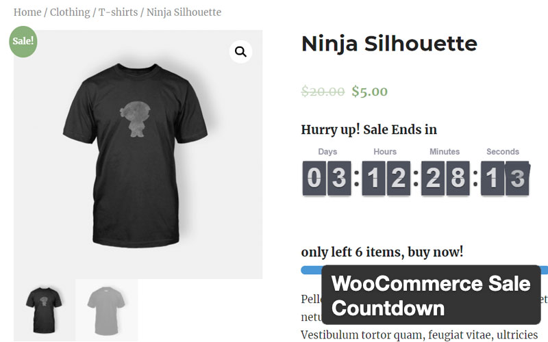 Woocommerce Sale Countdown