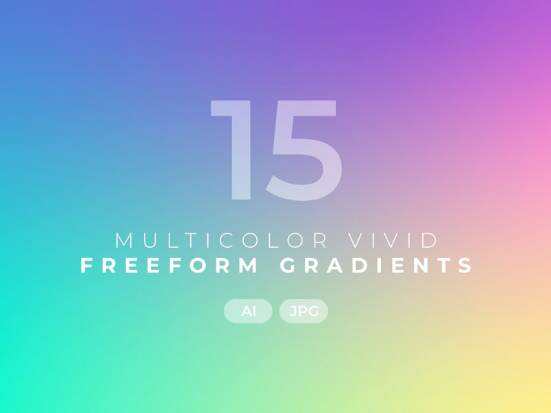 Multicolor Vivid Freeform Gradients