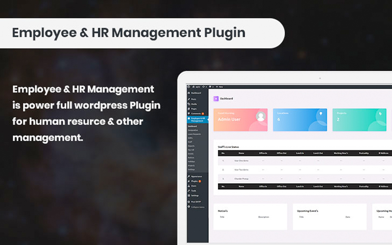 Employee And Hr Manager Plugin
