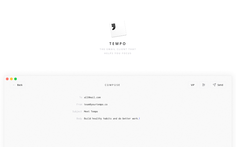 Tempo Email Client