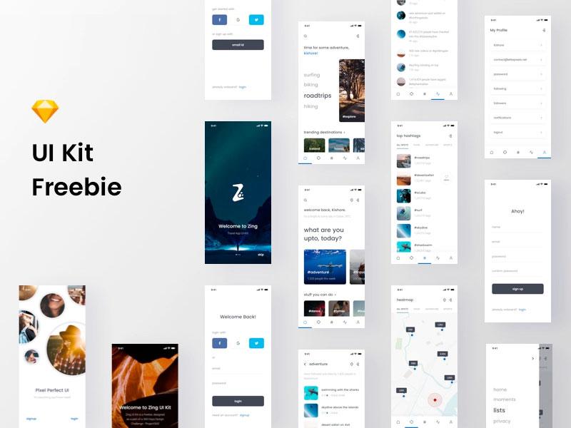 Zing Mobile Ui Kit Freebie