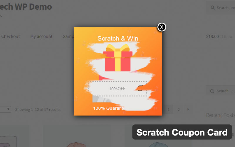 Scratch Coupon Card WordPress Plugin