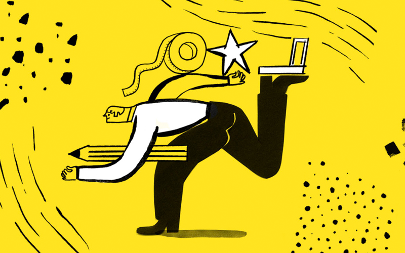 Mailchimp Uses Abstract Illustrations
