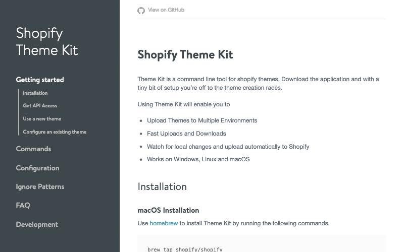 Shopify Theme Kit