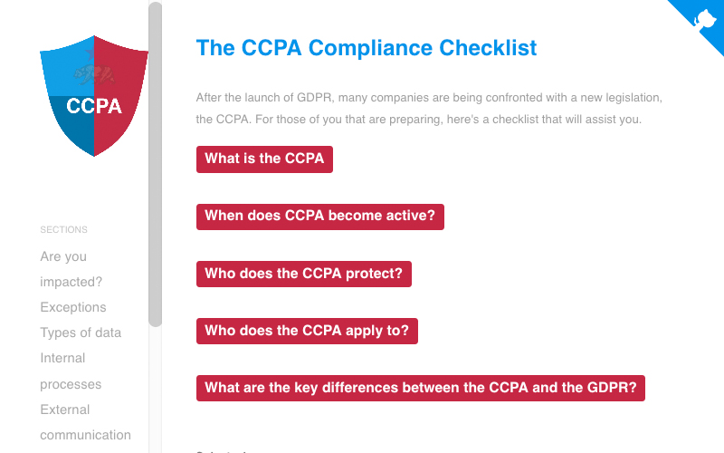 The Ccpa Compliance Checklist