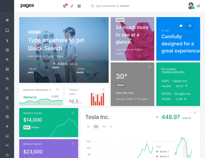 Pages Bootstrap Admin Dashboard