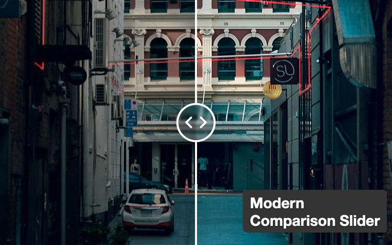 Modern Comparison Slider