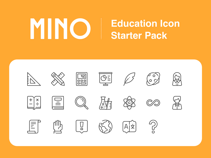 Mino Education Icon Starter Pack