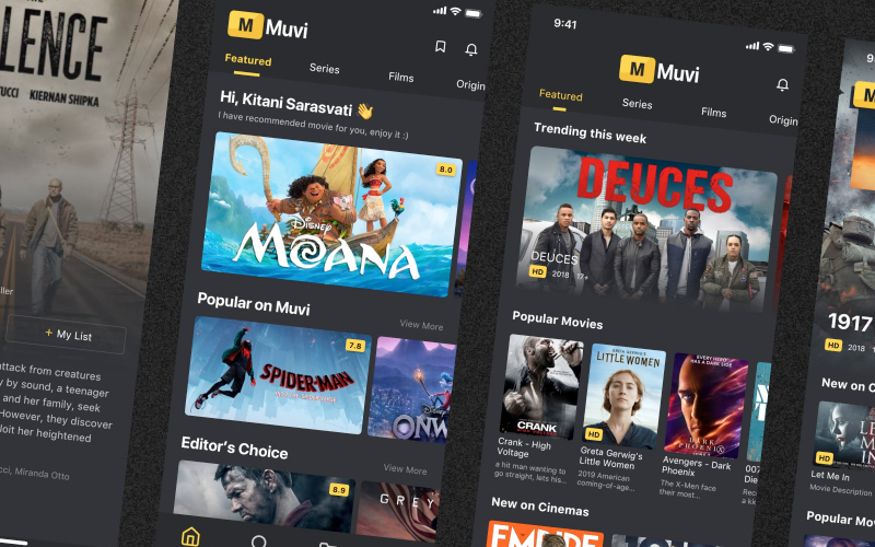 Muvi Movie Streaming Ui Kit