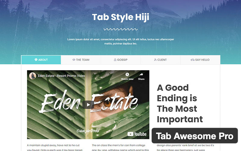 Tab Awesome Pro
