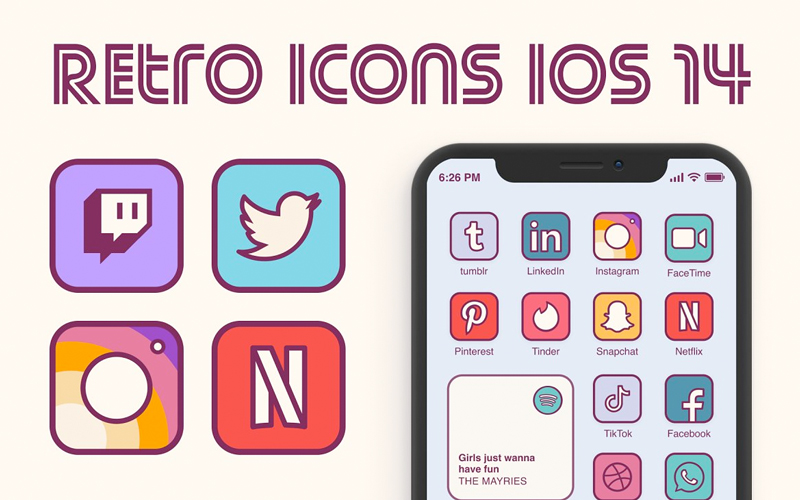 Ios 14 Retro Home Screen Icons