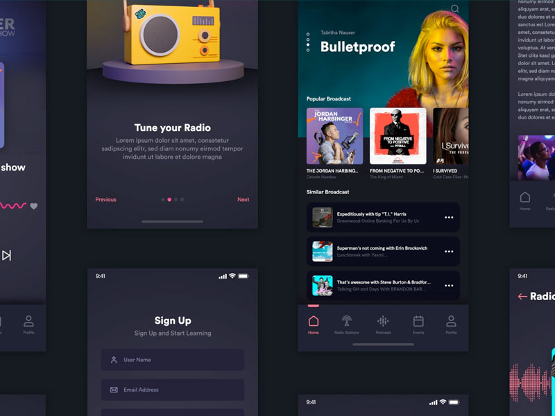 Podcast App Free Ui Kit