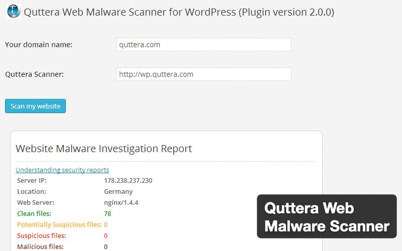 Quttera Web Malware Scanner Plugin