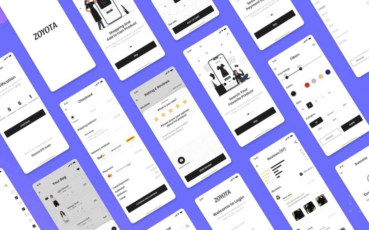 Zoyota Ecommerce App Ui Kit