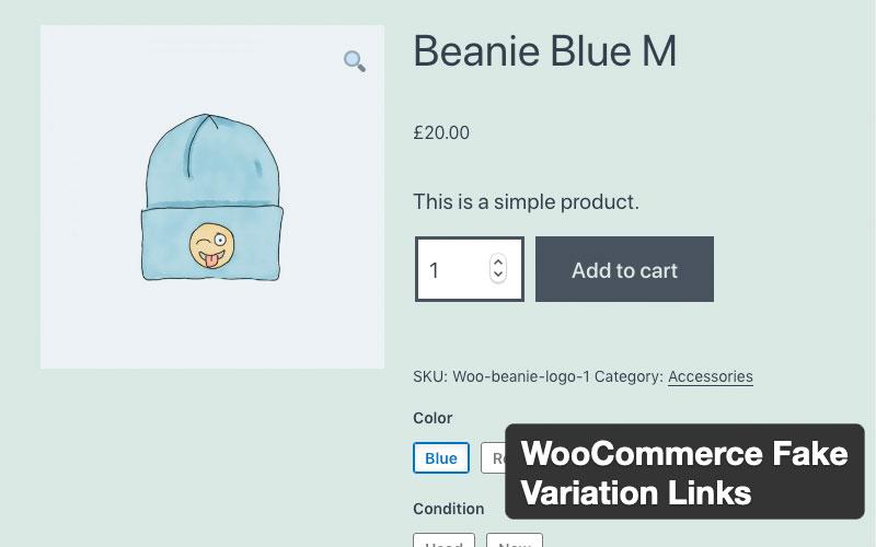 Woocommerce Fake Variation Links