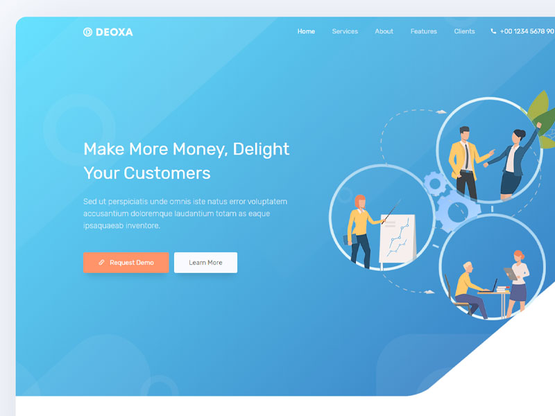 Deoxa Free Landing Page Template