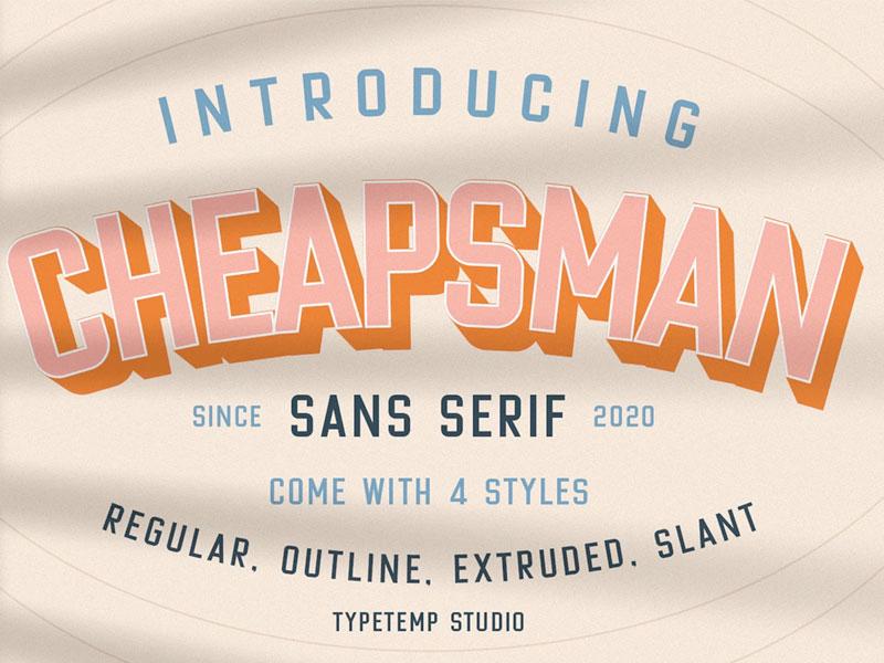 Cheapsman Typeface Is Afree Sans Serif Font