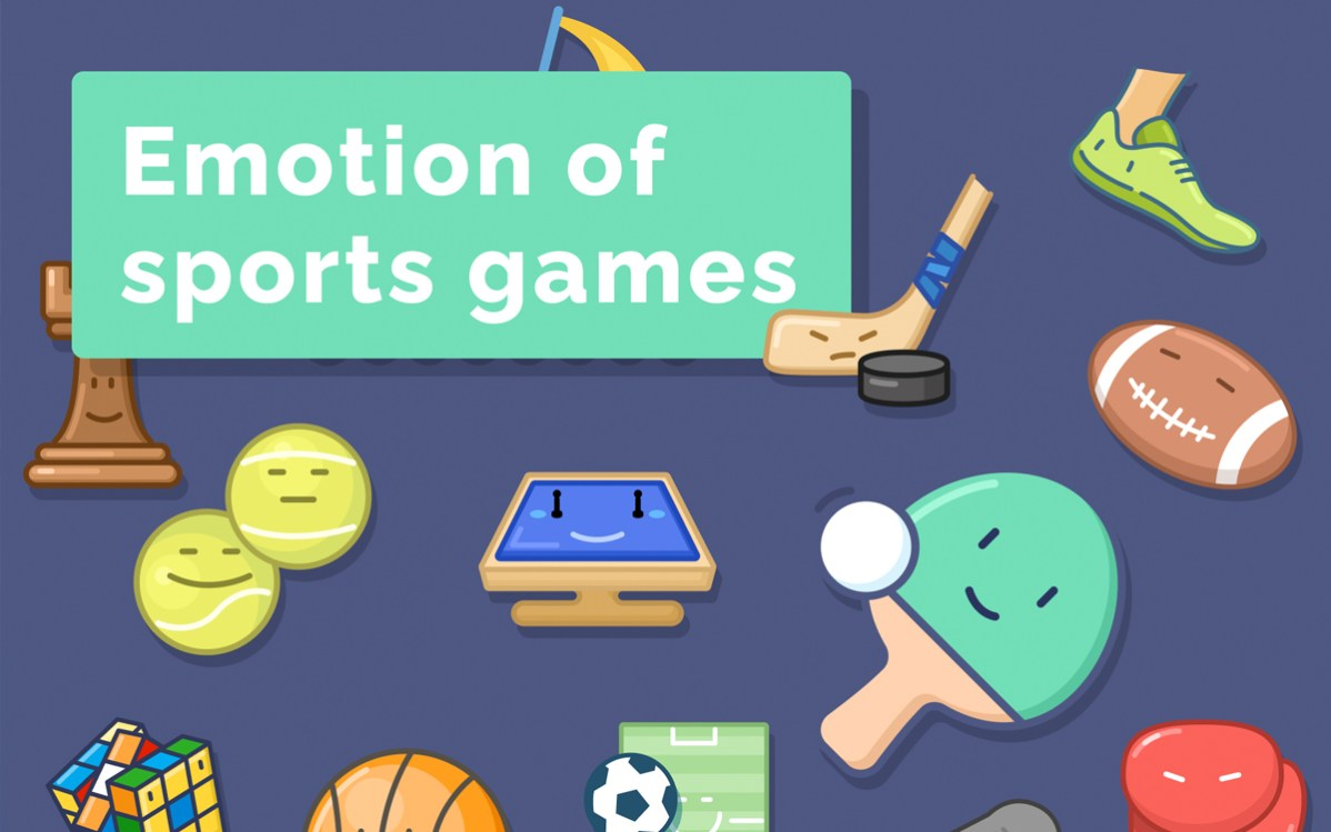Emotion Of Sports Games Icons Set