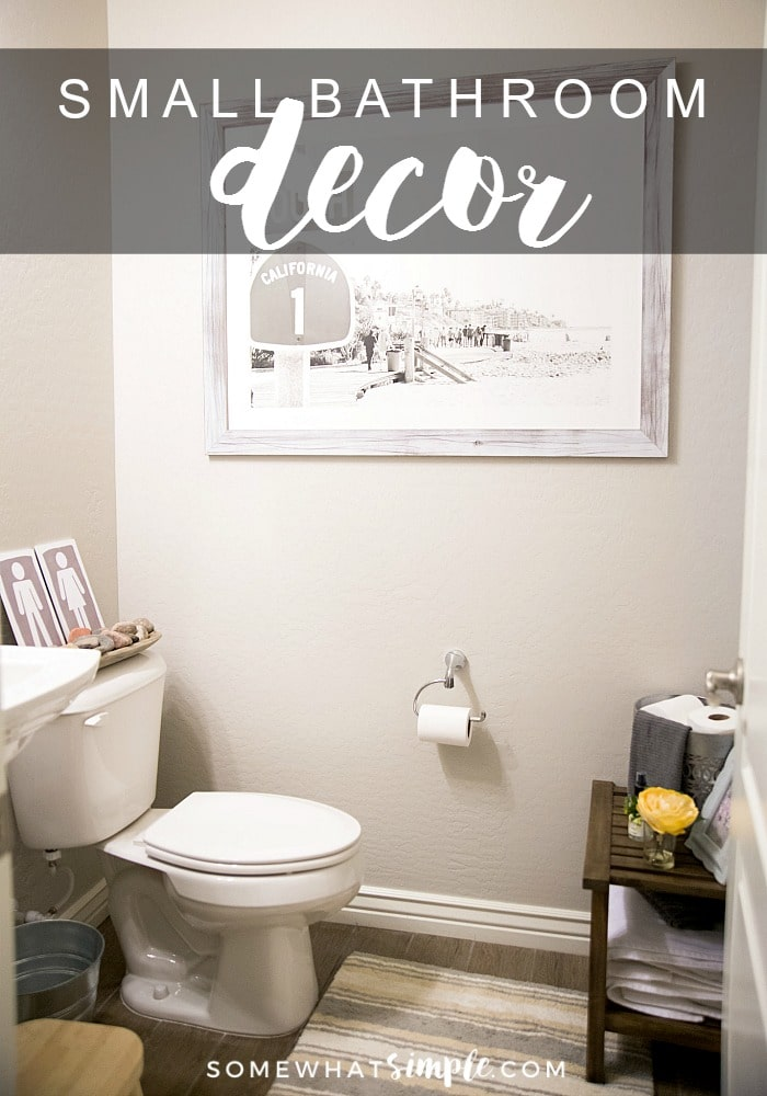 How to Decorate a Small Bathroom (Easy Tips)   Somewhat Simple on Simple Bathroom Designs For Small Spaces  id=32094
