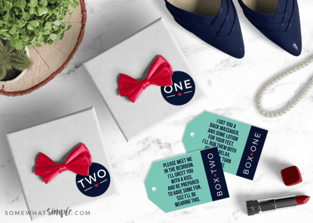 Sexy Gift Idea For Men In Two Boxes With Tags