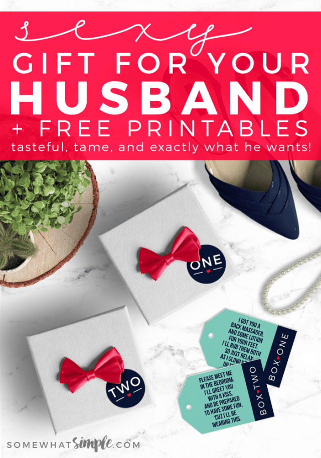 Sexy Gift Idea For Your Husband Two Small Boxes With Tiny Red Ribbons Labels One