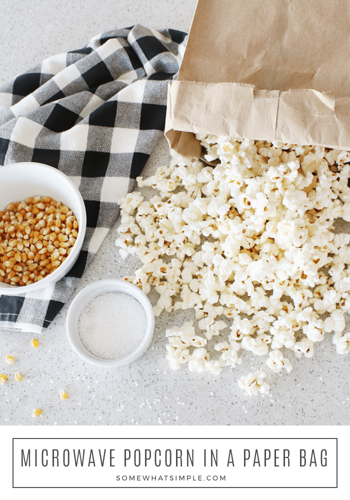 paper bag popcorn make in the