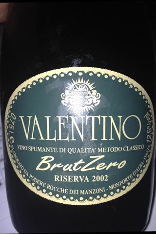 Alta Langa DOCG Rocche dei Manzoni Valentino Brut zero riserva 2002
