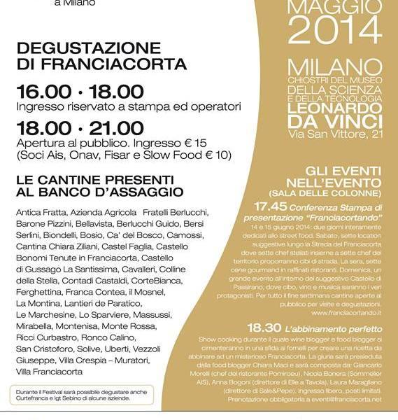 A Milano il Festival del Franciacorta