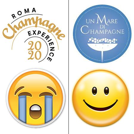 """""""Roma Champagne"""" salta, """"Un mare di Champagne"""" tiene."""