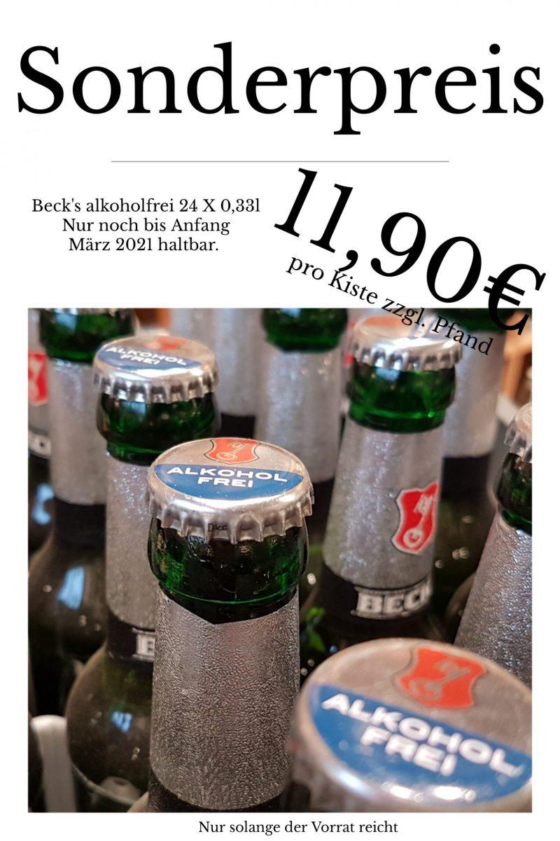 Sonderposten Beck's alkoholfrei 24 X 0,33l