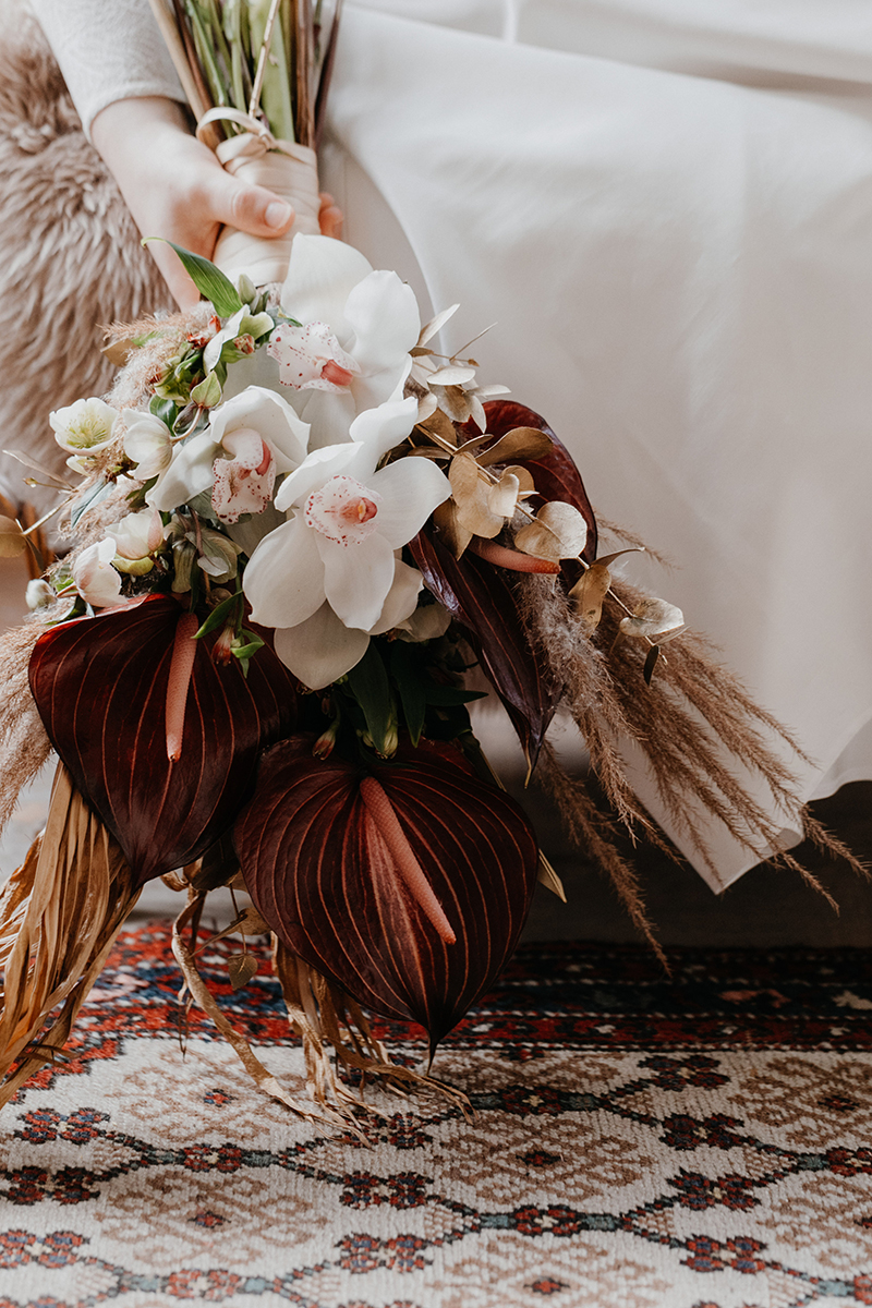 Styled Shoot Winter Bohemian Flowers