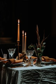 Styled Shoot Winter Bohemian Tablesetting