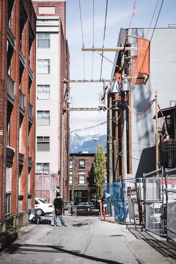 Vancouver Straße Berge