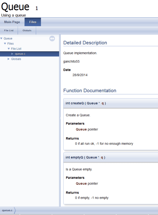 Documentacion generada por Doxygen
