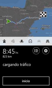 Cortana muestra la ruta paso a paso