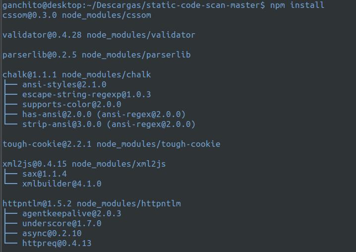 Instalando Static Scan el analizador de web de Microsoft