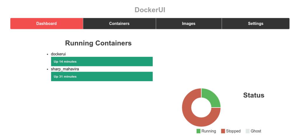 Interfaz gráfica de Docker