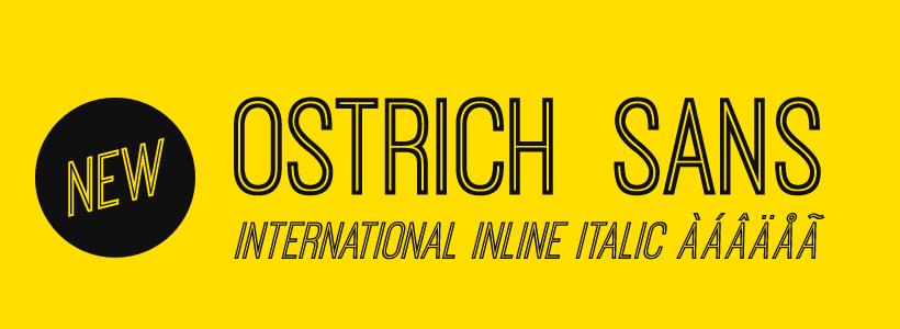 La tipografía Ostrich es muy llamativa