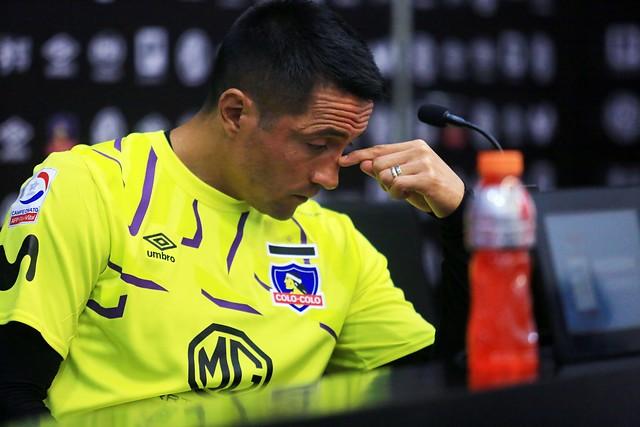 Miguel Pinto, arquero de Colo Colo, se refirió al problema entre jugadores y ByN // Foto: Agencia Uno
