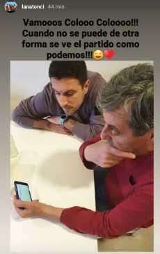 Mirko Jozic viendo a Colo Colo / Imagen: Instagram Lanatonci